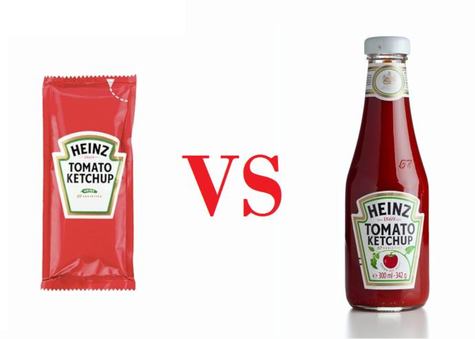 Does ketchup from bottle and sachet taste different?