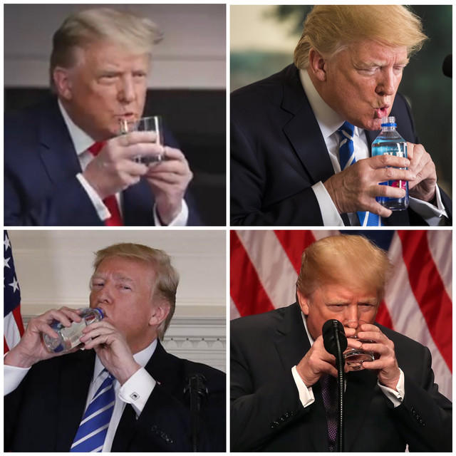 Can you drink water with one hand?