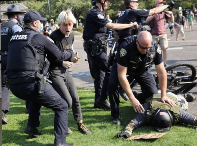 Proud Boys get more guns and March. Thus Police fund Swat and HRT. There's a link, right?