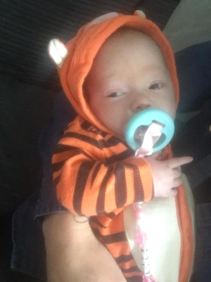 Please can everyone say happy hallloween to our little jasmine?