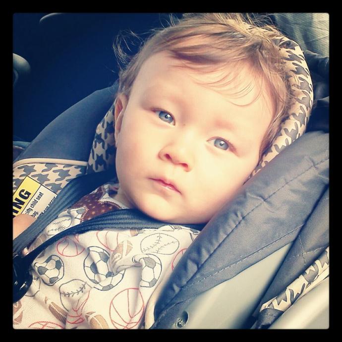 Half white, half Asian baby