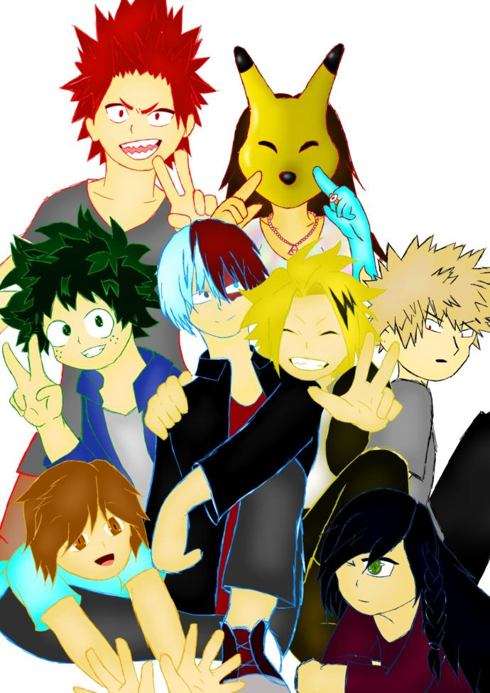 Characters from BnHA plus some of me and my friends OCs