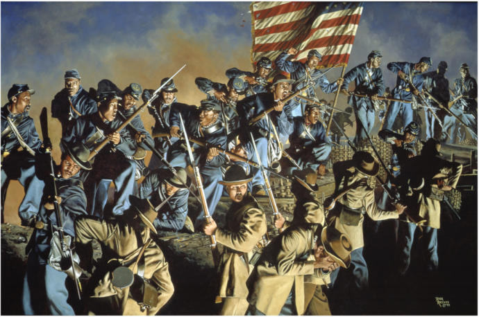 United States Colored Troops in action