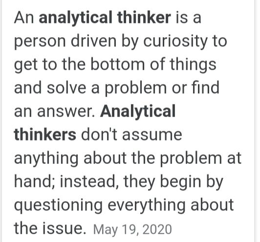 What Kind Of Thinker/Thinking Attracts You The Most? And, Which Are You?