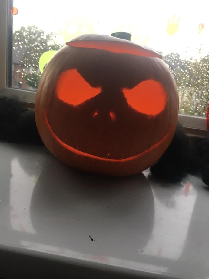 What do you think of the pumpkin I helped my son with?