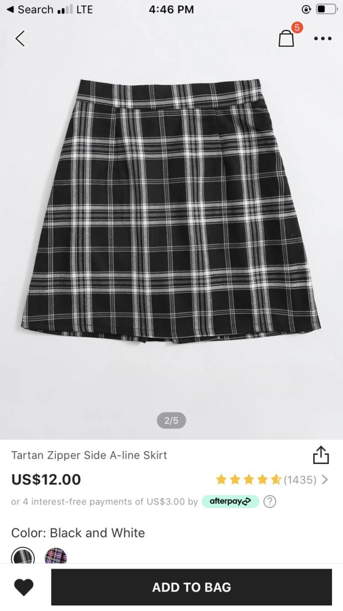 Which skirt to wear with the knee high socks?