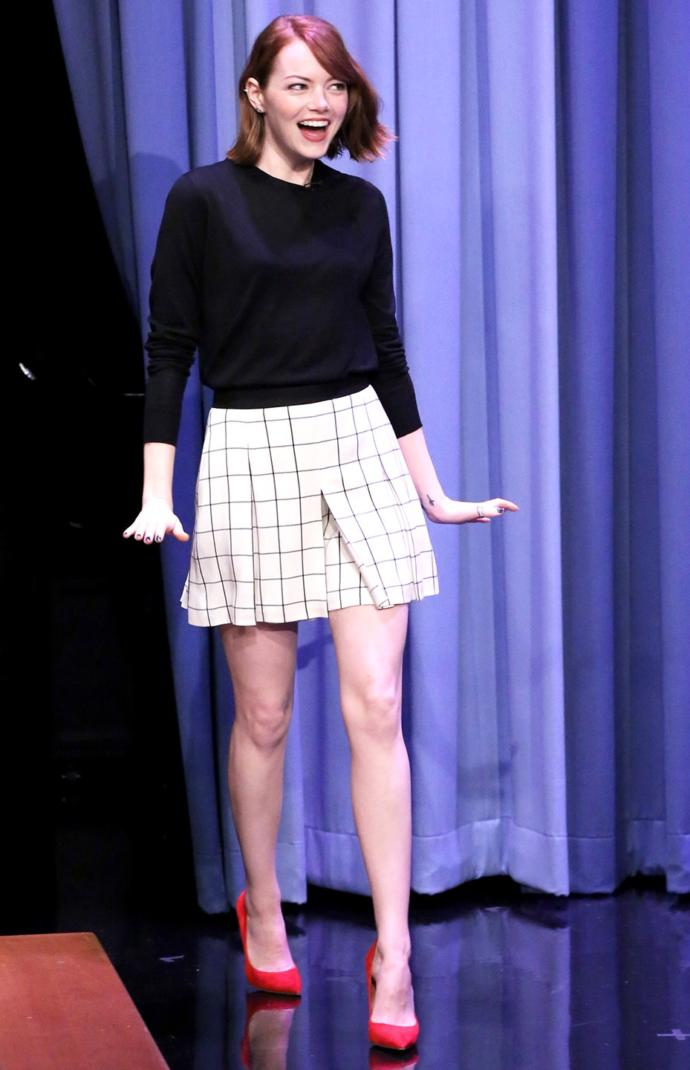 How does this outfit go with Emma Stone?