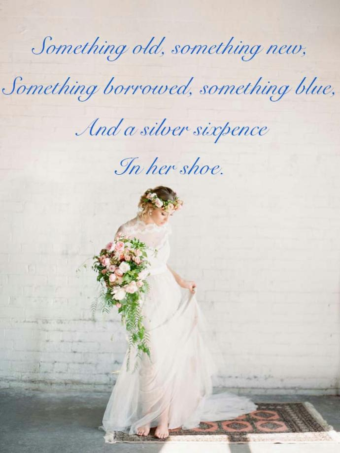 Girls, lets say you had a wedding, what would be your something old, something new, something borrowed and something blue?