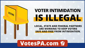 Have you ever suffered voter intimidation?