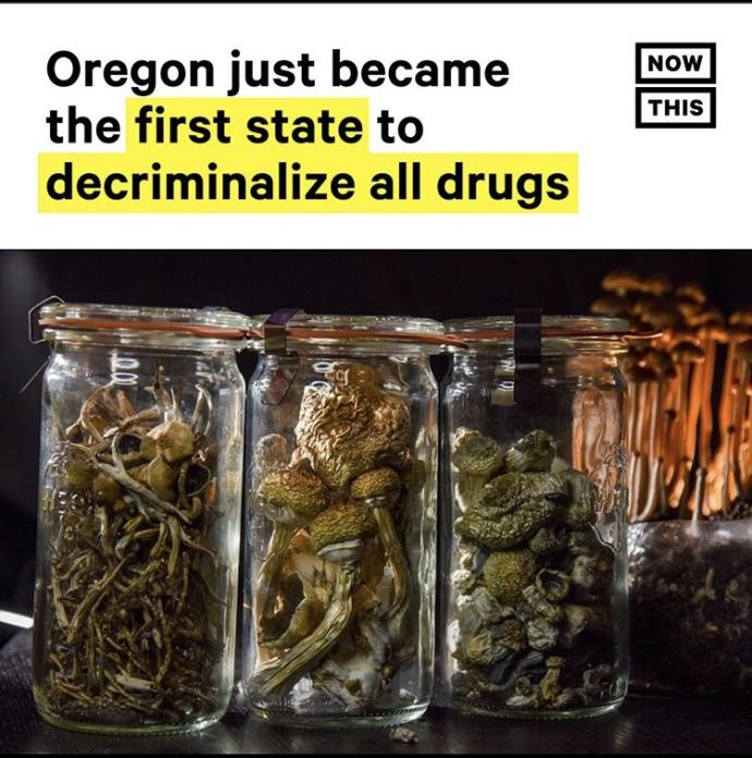 What are your thoughts on Oregon being the first state to decriminalize all drugs?
