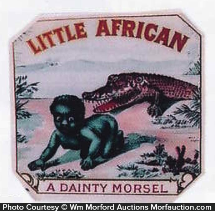 Is this old cigar box label from the 30s or this school mascot racist?