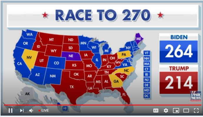 Biden is at 264 vs Trump at 214 with only 4 states left are Trump supporters scared right now?
