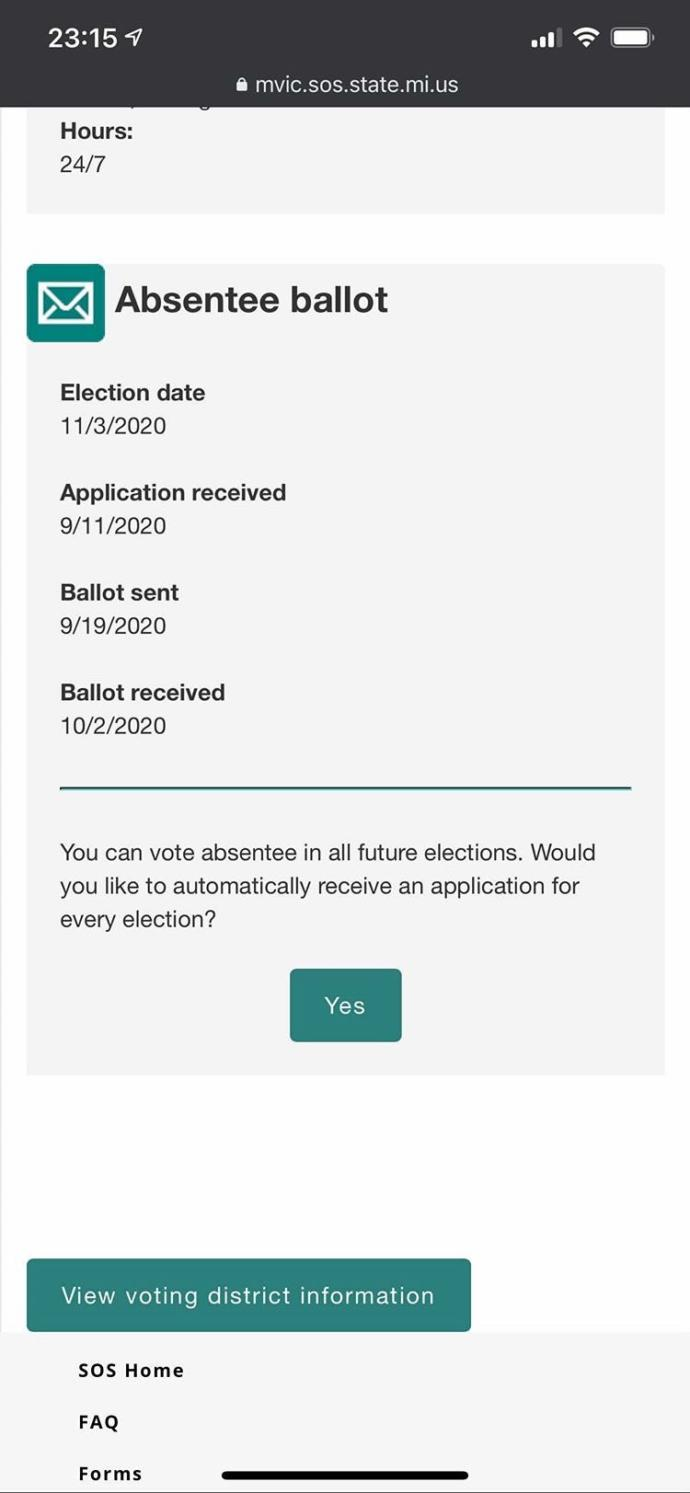 A 118 year old guy voted in Michigan?