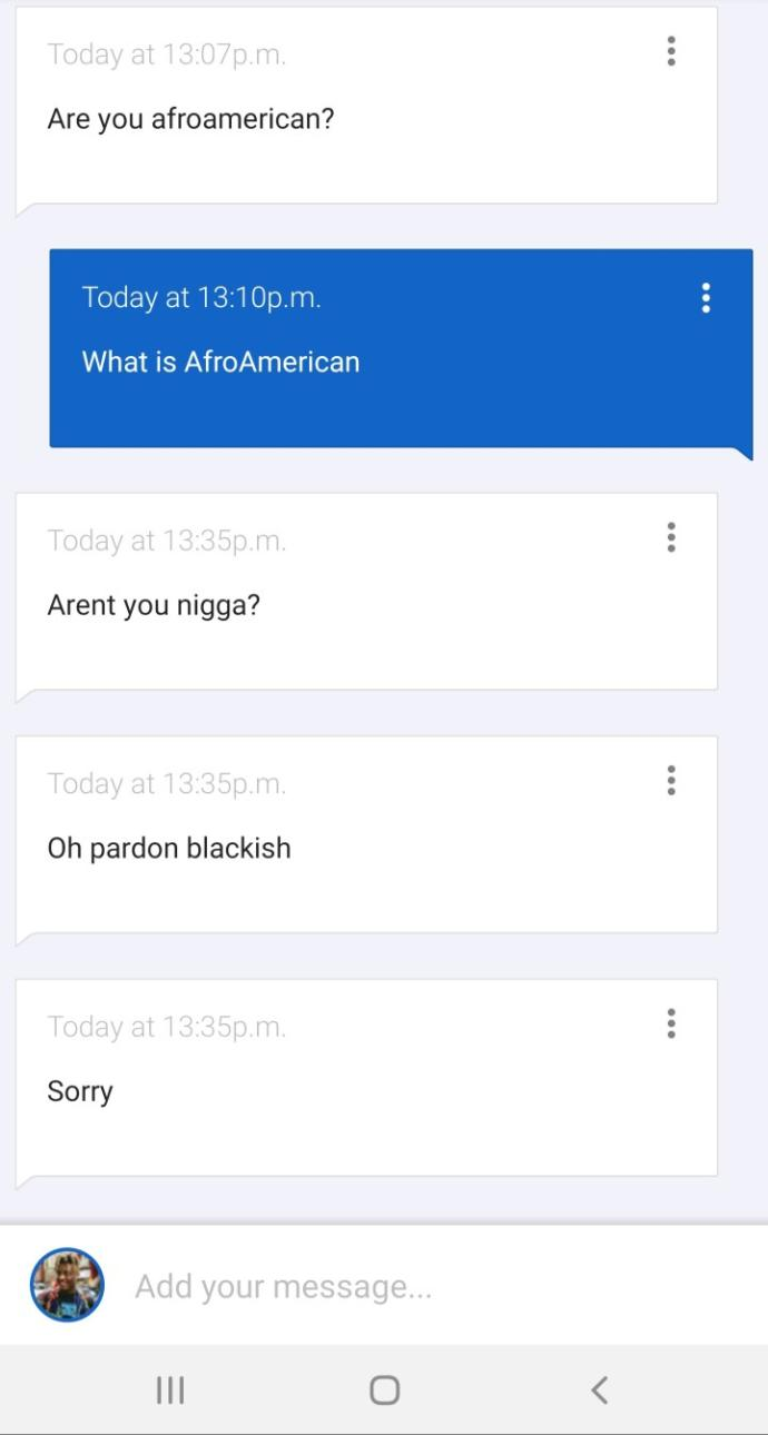 Are you AfroAmerican?