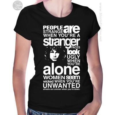 When are people strangers to you and what makes them not strangers anymore?