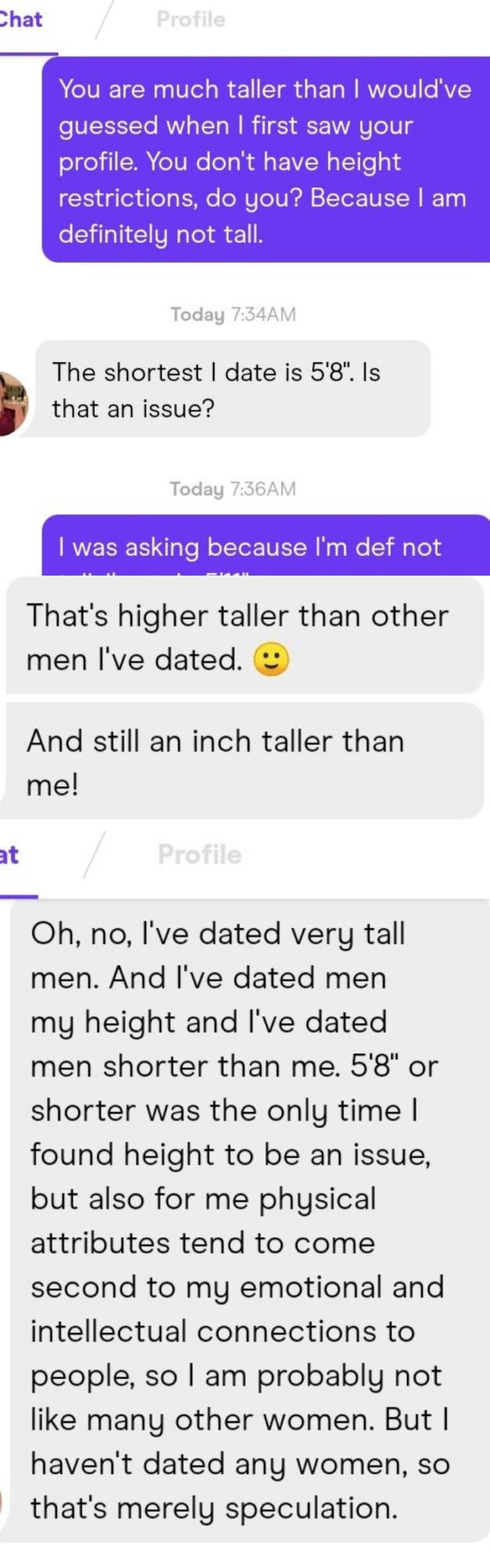 Girls, what do I say every time women keep bringing up my height or asking me how tall I am online?
