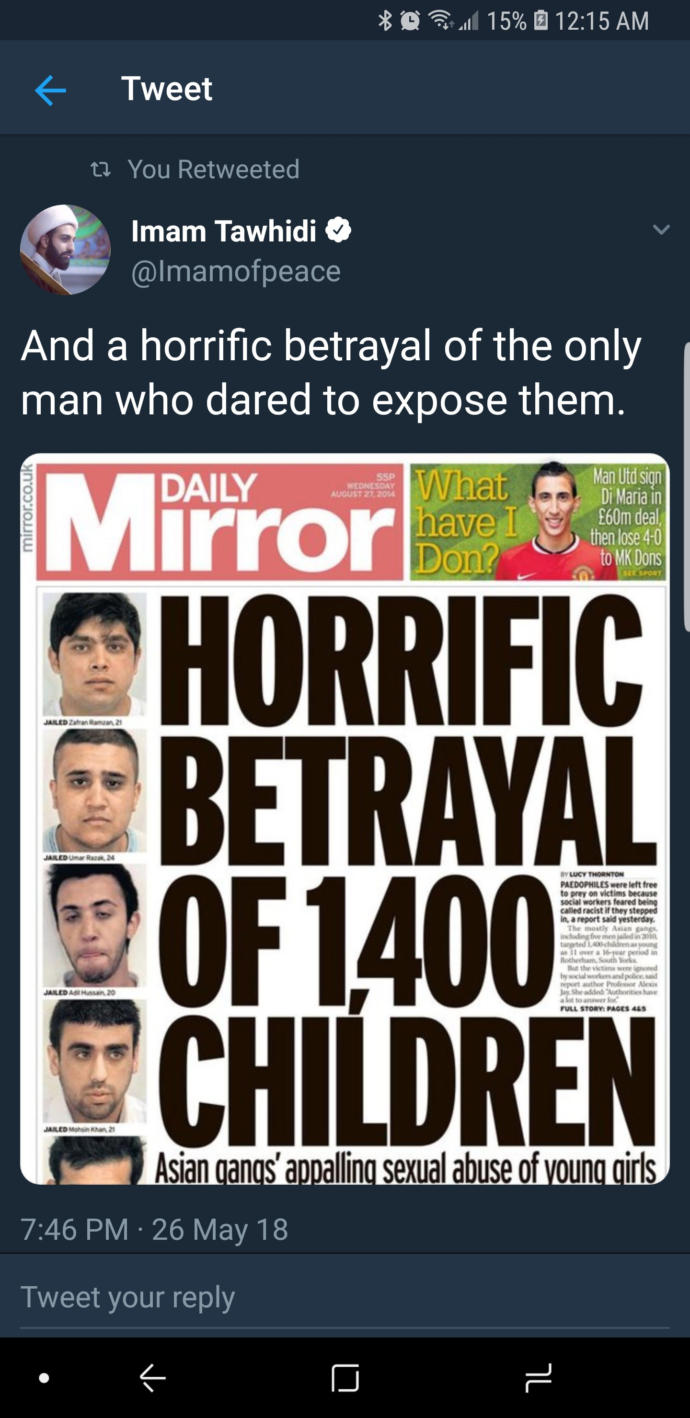 Do you think the British Police is involved in grooming gangs?
