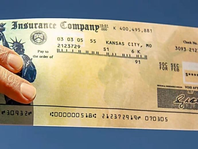 Have you ever received a check from any Insurance Company?