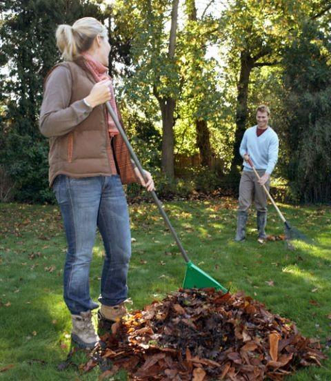Do you share doing yard work with a partner?