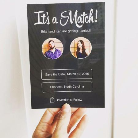 Would you ever use Its a match as your wedding invites or as a picture in your house?