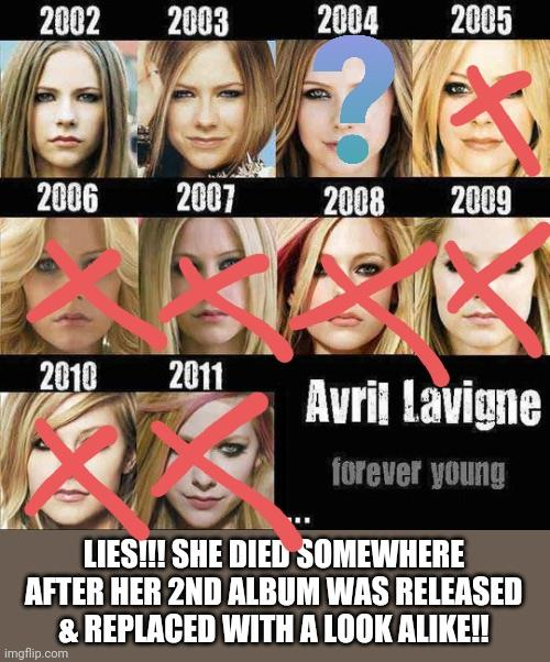 RIP Avril Lavigne. Do you miss her?