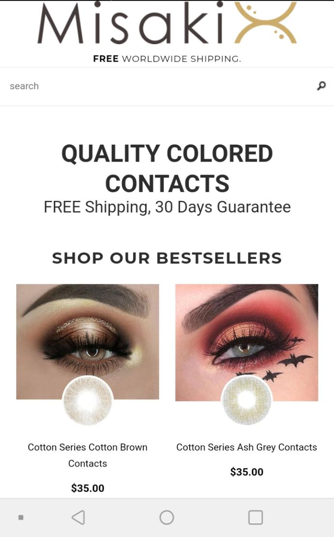 Is it safe to wear non prescribed contact lenses from misakicon?