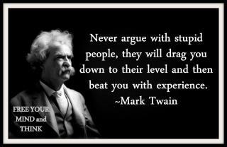 Is it weak to give up/not respond in stupid arguments (not relationships)?