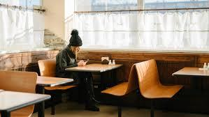 2) eating alone