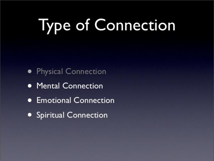 Which types of connections are most important to you?
