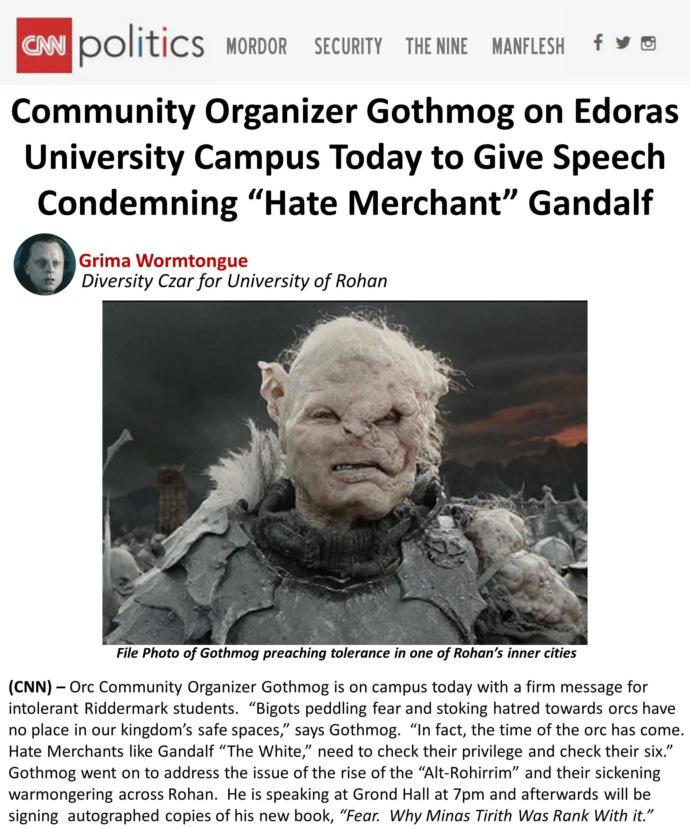 Lord of the Rings. Should it be cancelled due its White Supremacy themes and negative depictions of minorities?