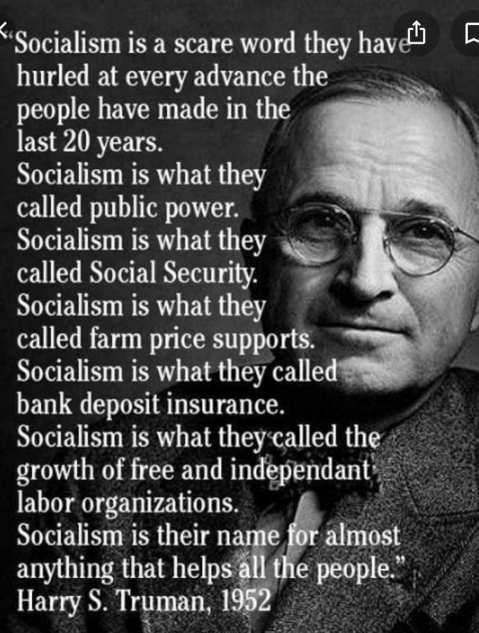 """""""Socialism is a scare word"""""""