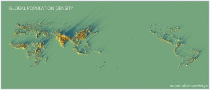 This map proves that majority of humanity is black, brown, yellow?