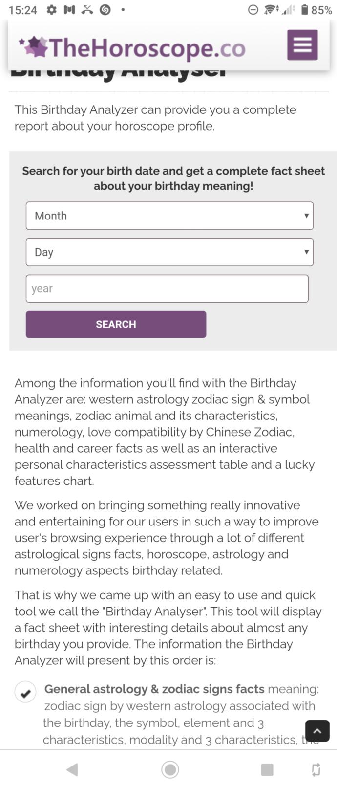 Try this really accurate horoscope analyser?