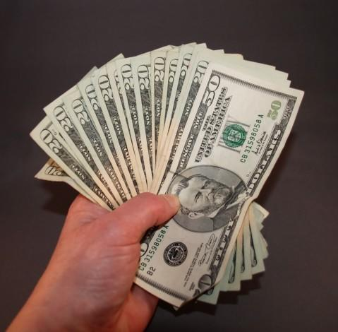 What was the highest amount of money you ever had in your hands?