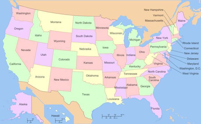 What are the US states and countries of the world you always seem to forget exist?