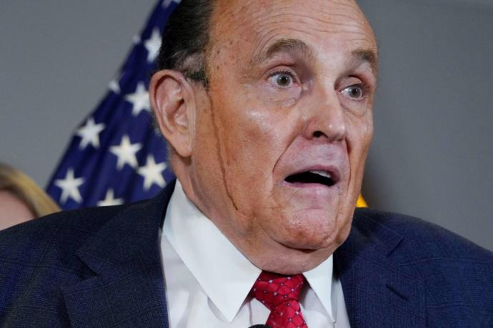 Nice dye job Rudy. No one can tell. Did you get tips from Lou Dobbs?
