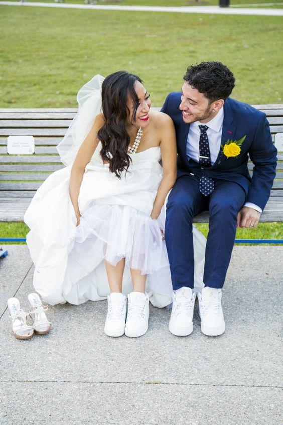 Would you allow someone to wear sneakers in your wedding? What about girls in suits?