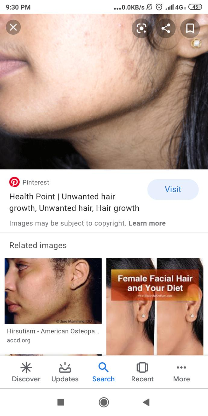 What do you think girls with natural hair near her jaw and moustache?