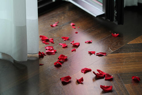Have you ever scattered rose petals over the floor for your loved one?