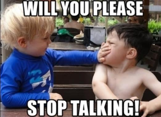 What Do You Do When Someone Wont Stop Talking 😱🙉?