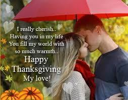 Are you doing anything romantic for Thanksgiving?