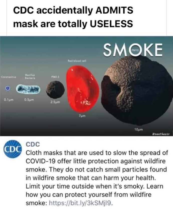 What's your reason for not wearing a mask?