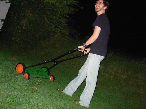 Have you ever done yard work at night?