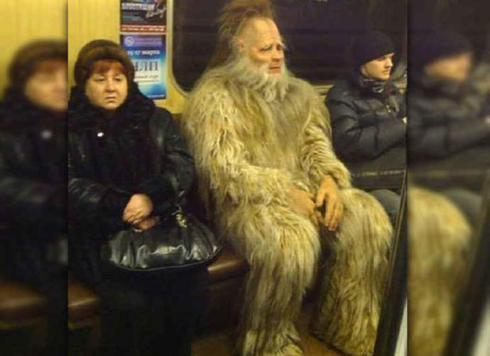 What would you do if you saw this sitting across from you on the Subway?
