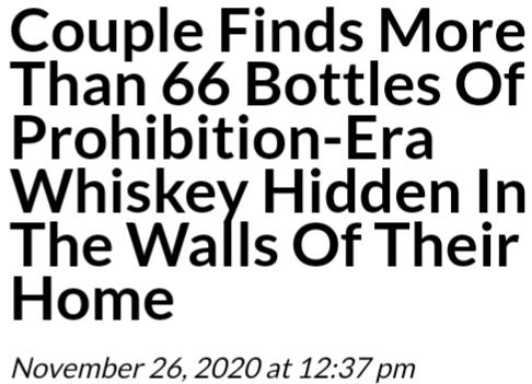 What would you do with the whiskey this couple found?