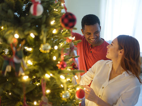 Are you putting up the Christmas decorations with your partner?