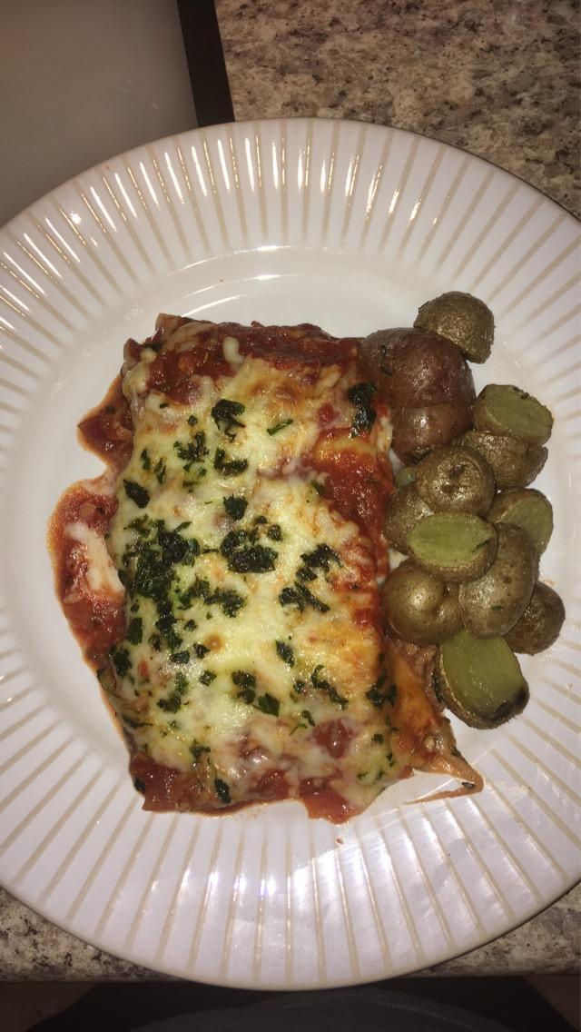 Do you like lasagna with roasted potatoes?