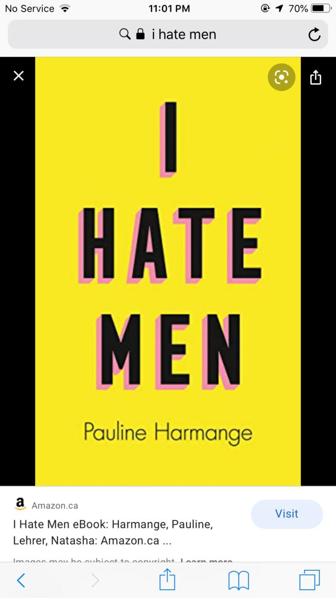 """As a feminist would you read a book titled """"I hate men""""?"""