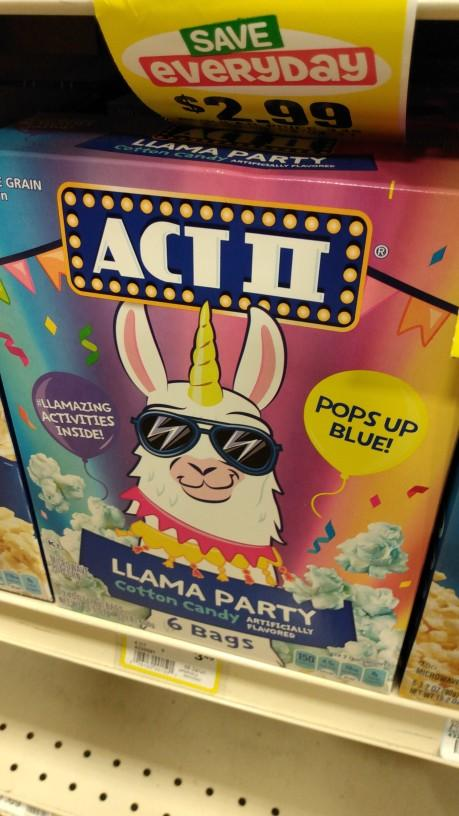 What do you think about cotton candy llama popcorn?