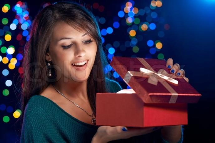 If you were to open a glowing Christmas box, what would you expect to find inside?